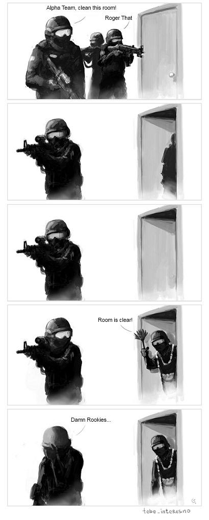 ripulite la stanza!