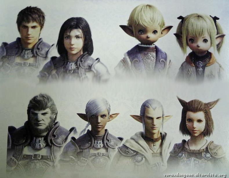 [NEWS] FF XIV PS3 e PC!!! Final-fantasy-xiv-races